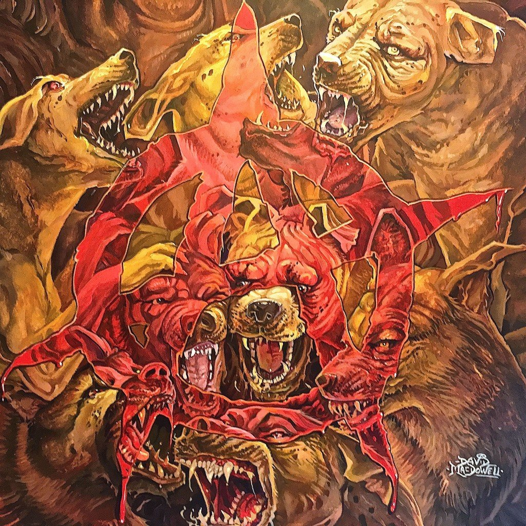 """The Dogs of War"" Original Painting by Dave MacDowell"