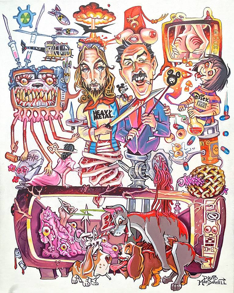 Hot and Heavy by Dave MacDowell Framed