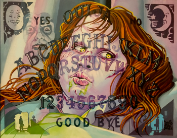 The Exorcist Ouija Board by Dave MacDowell